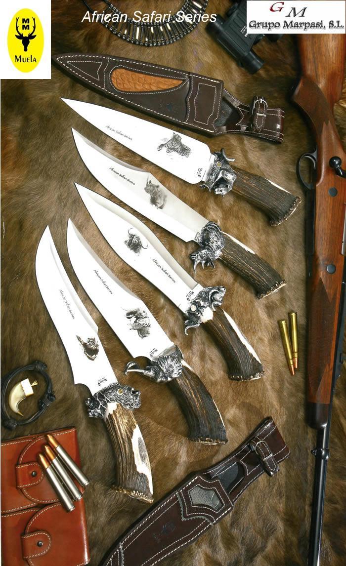 AFRICAN SAFARI SERIES Muela  hunting knives artisans BF