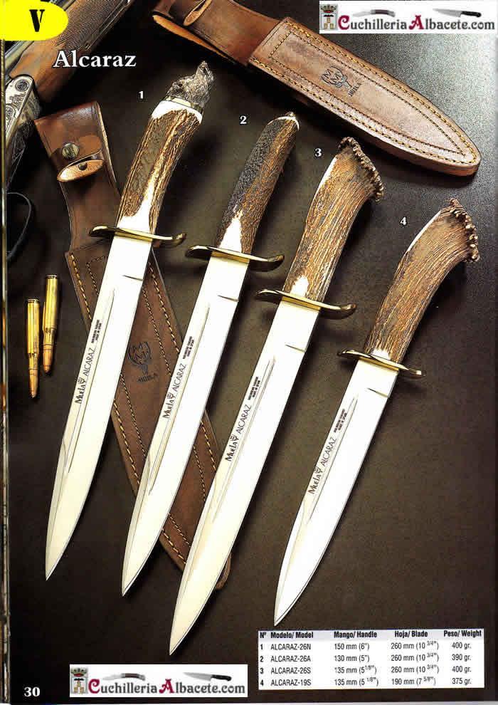 CUCHILLOS MUELA ALCARAZ Muela  cuchillos tacticos y caza