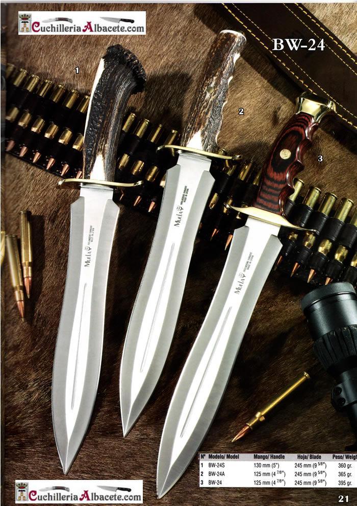 CUCHILLOS MUELA BW 24 Muela  cuchillos tacticos y caza