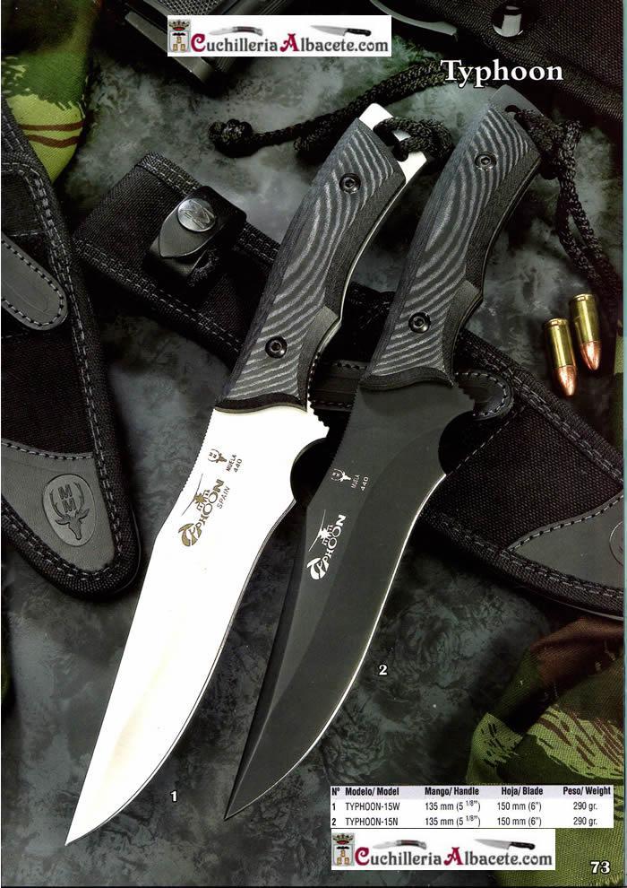 TYPHOON Muela  cuchillos tacticos y caza supervivencia