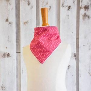 bavaglino bandana triangolino stelle rosa