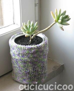 Il vaso recuperato al 100  Cucicucicoo
