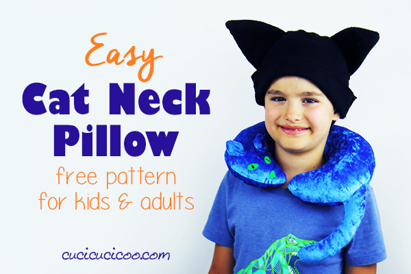 Free pattern: Cat shaped neck pillow