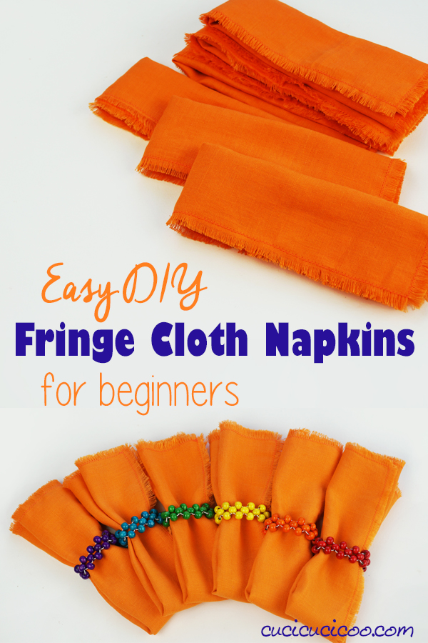 DIY sewing tutorial: Cloth napkins with fringe - Sewing