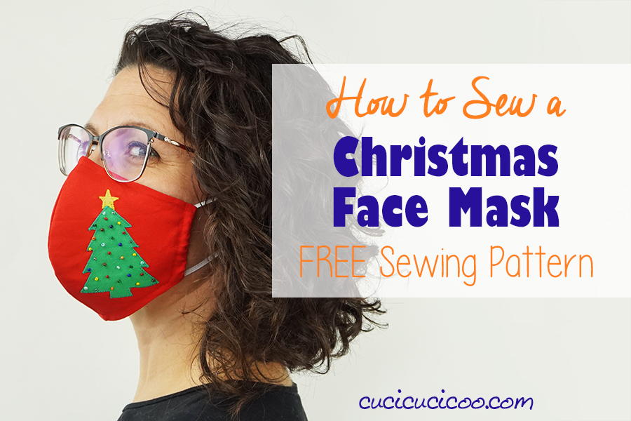 Christmas Face Mask - Free Sewing Pattern