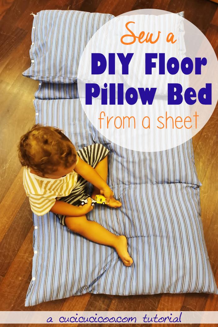 DIY Floor Pillow Bed - Sewing Tutorial