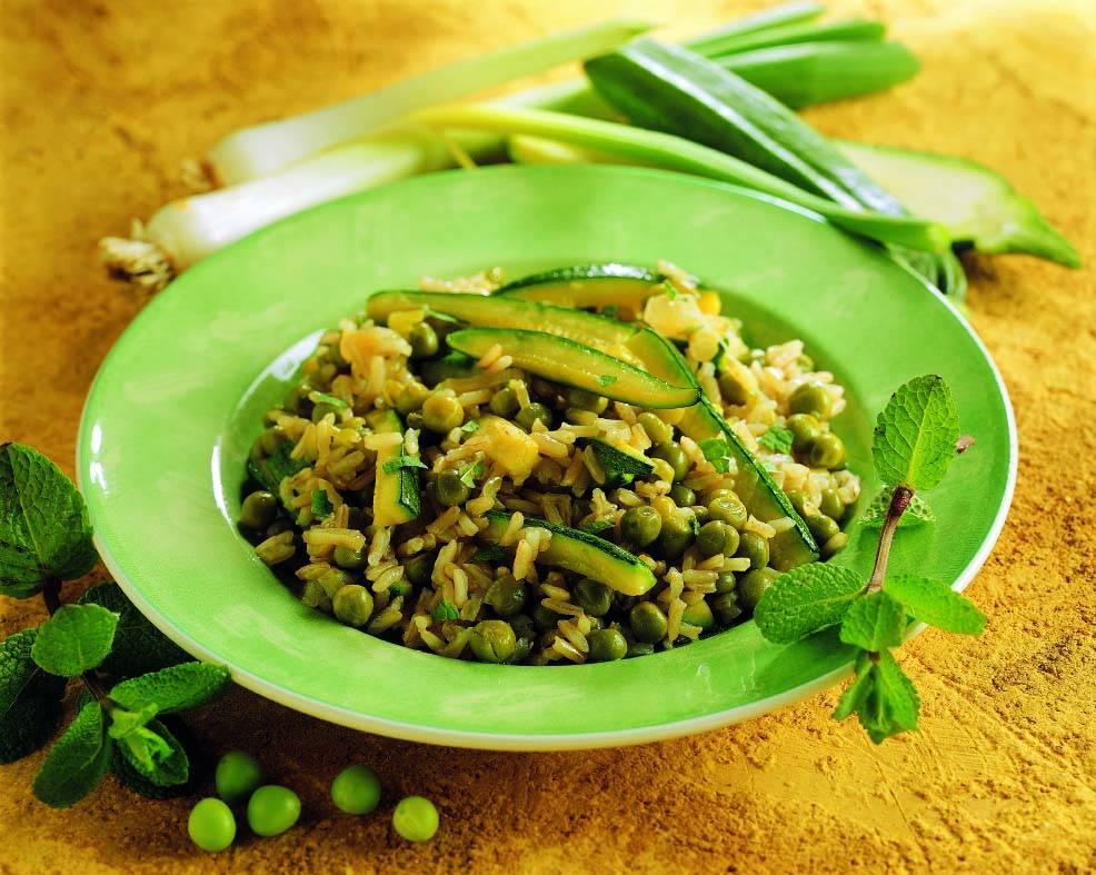 Riso e zucchine alla menta  Cucina Naturale