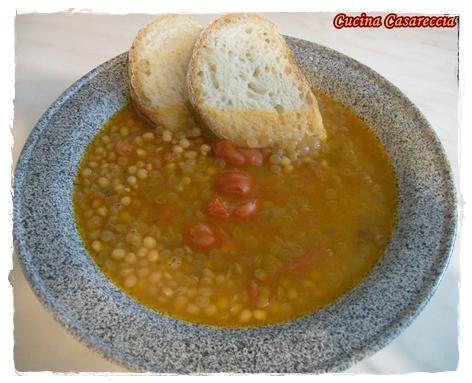 Minestra zuppa di lenticchie