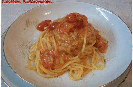 Spaghetti pomodorini tonno e besciamella
