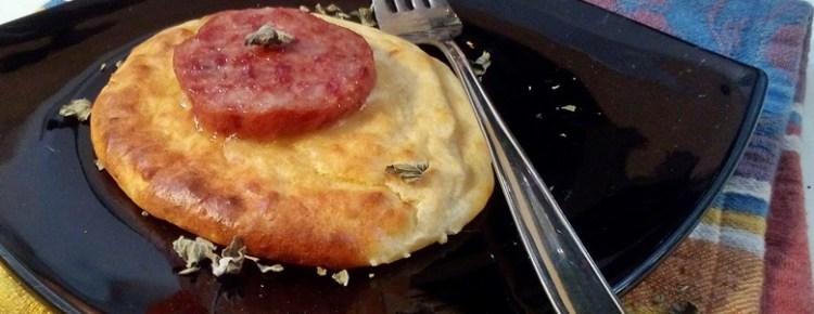 cotechino su sformato di patate