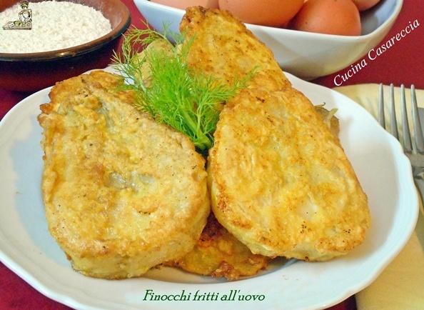 Finocchi fritti all'uovo