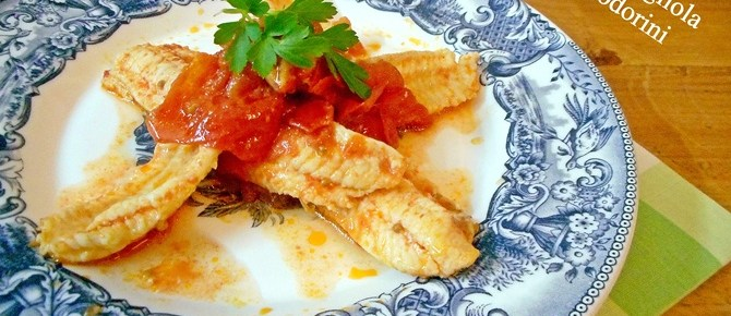 Filetti di sogliola ai pomodorini
