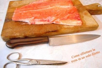 Sfilettare la sogliola in quattro filetti