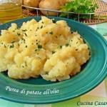 Purea di patate all'olio