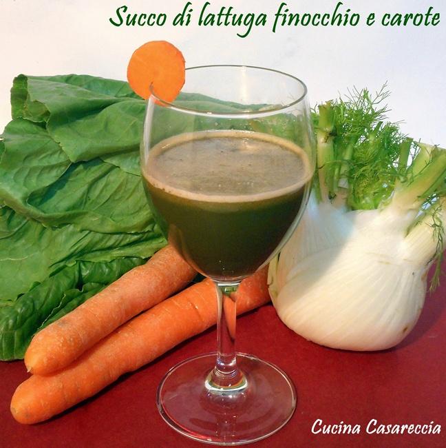 Succo di lattuga carota e finocchio