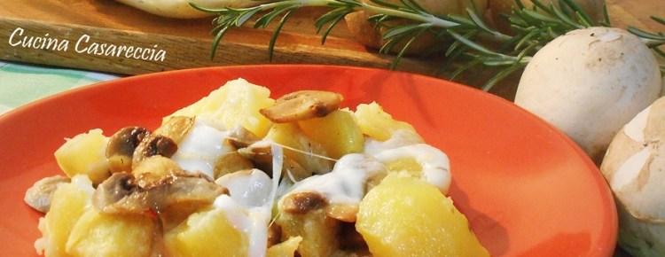 Pasticcio filante di patate e funghi