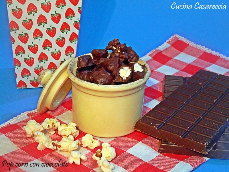 Pop corn con cioccolato