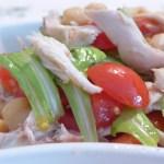 Insalata di ceci pollo e pomodorini