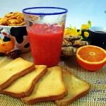 Succo di arancia rossa e zenzero