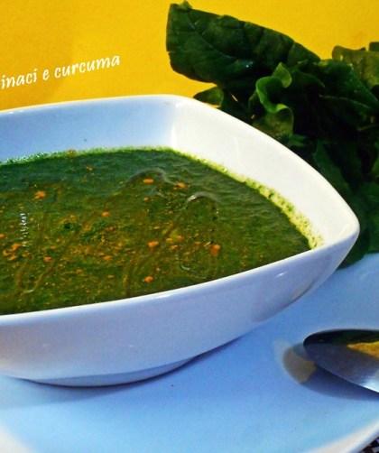 Crema di spinaci e curcuma