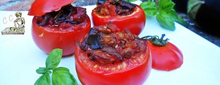 Pomodori con melanzane a funghetto