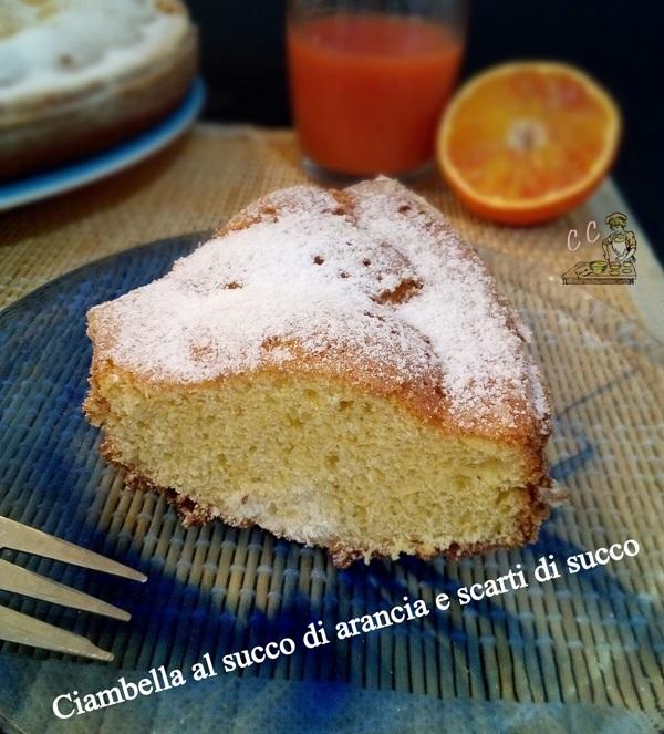 Ciambella al succo di arancia e scarti di succo