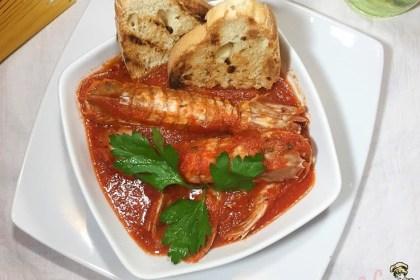 Zuppa di cannocchie o cicale di mare