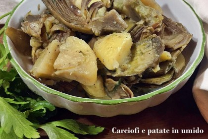 Carciofi e patate in umido