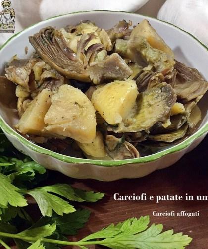 Carciofi e patate in umido