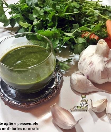 carote aglio e prezzemolo succo antibiotico naturale