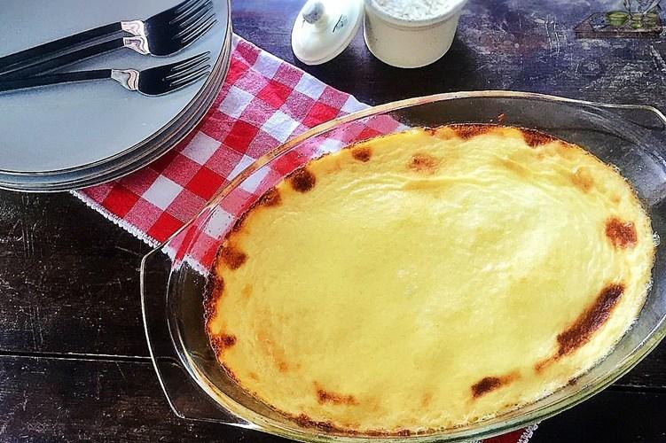 Riso al forno con crema al formaggio