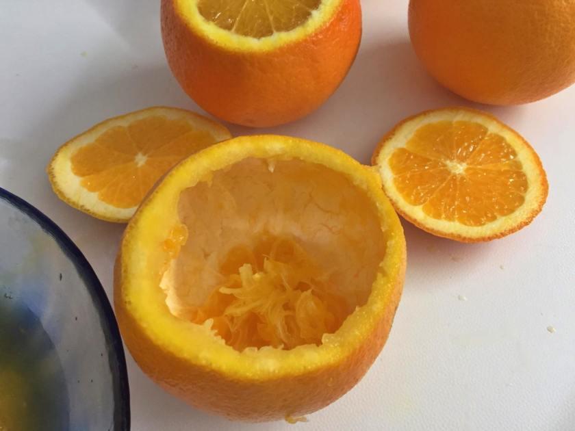 arance ripiene di crema