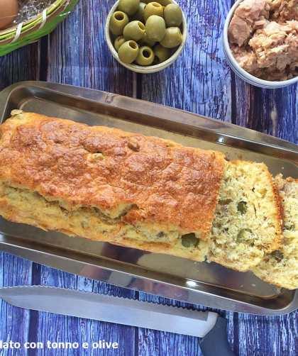 plumcake salato con tonno e olive