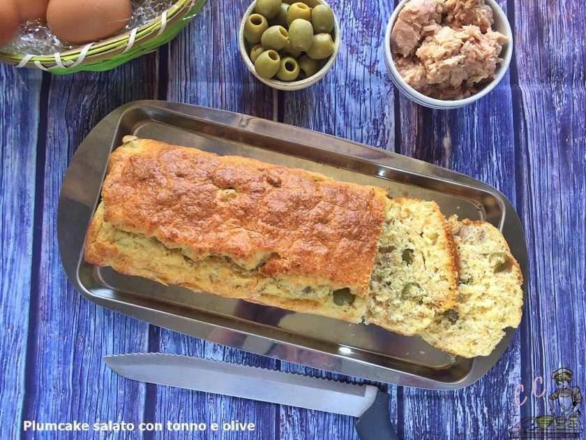 plumcake salata con tonno e olive