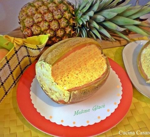 Melone Glacè dessert fresco ed elegante da servire