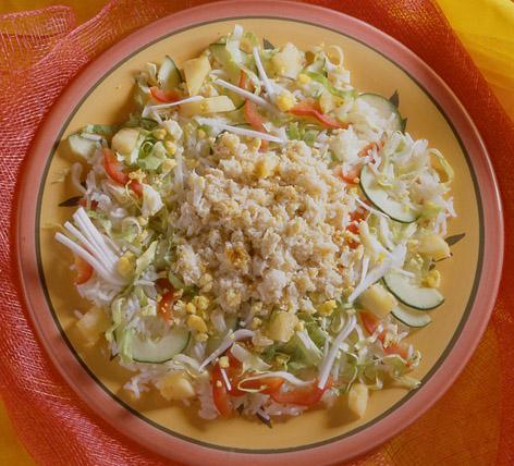 insalata di riso alla creola