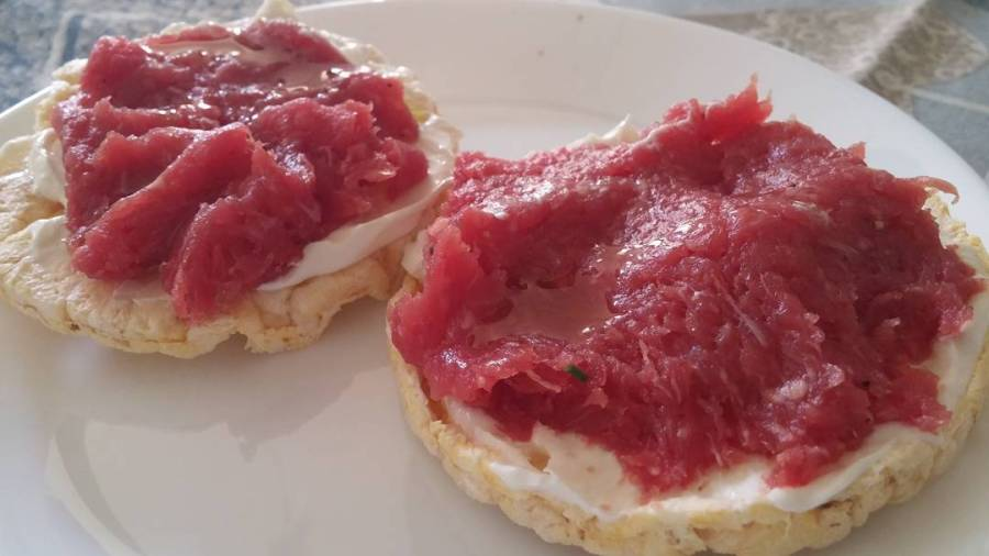 #merenda #tartare #bovino #goldessa #balance @lidlitalia #gallette #mais #protein #dukan #diet #quartafase #dukanstyle #fast & #easy #lightfood #fitness #healthy #newlife