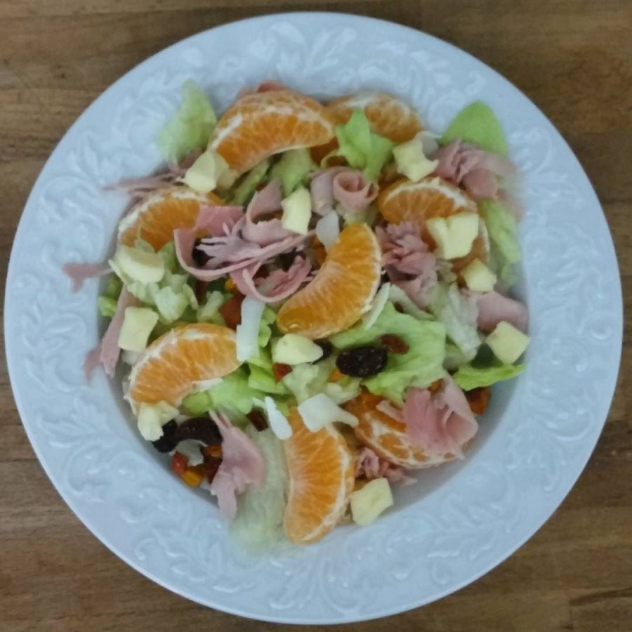 #dinner #cibosalutare #salad #mandarin #dukan #diet #dieta #quartafase #food #lightfood #insalatona #wheightloss #bodyrevolution #newme #wayoflife