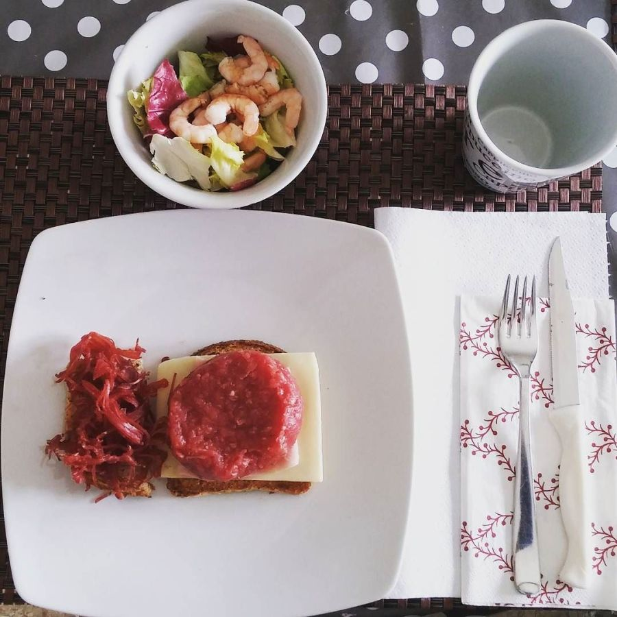 #lunch #tartare #sfilacci #equino #insalata #salad #dukan #diet #dieta #quartafase #lightfood #protein #proteinfood #lowfat #lowcarb #chef #cheflife #cucinaproteica #cucinadulight