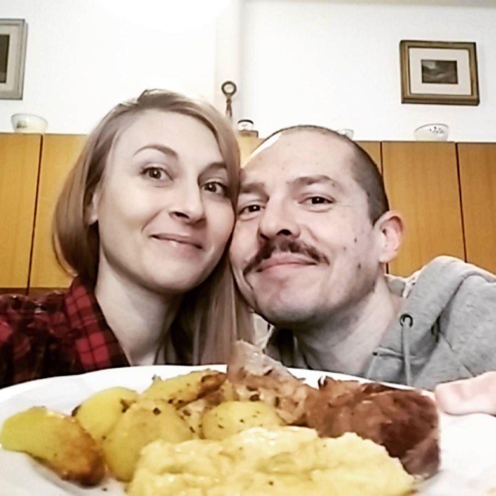#pranzodicoppia #lunch #dukan #diet #quartafase #polenta #stinco #patate #involtini #jessyecri #brescia