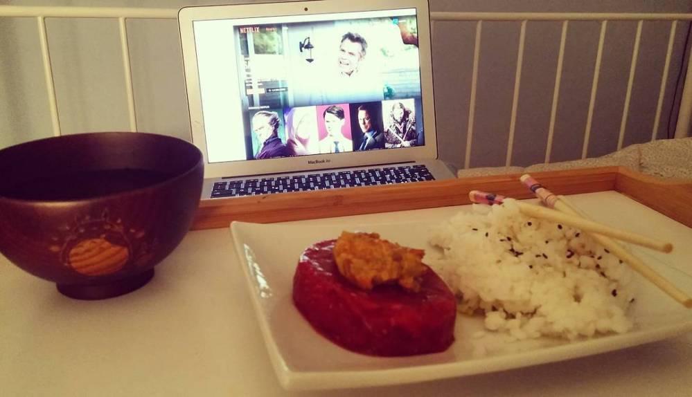 #dinner #tartare #rise #vegetable #cream #totoro #swordartonline #anime #japan #netflix #nerd #thenerdsideoflight #bed #dukan #diet #quartafase #cucinadulight