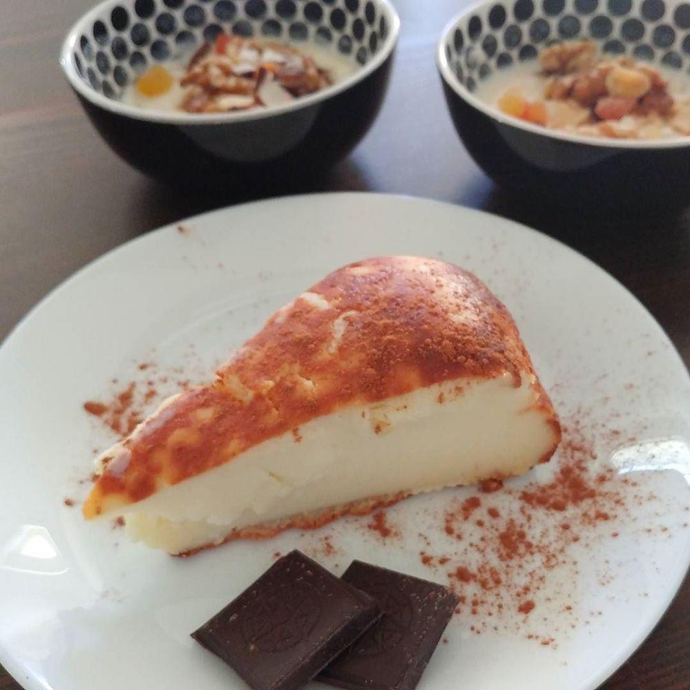 #breakfast #goodmorning #ricotta #cake #lightfood #sweetfood #chocolate #yogurt #driedfruit #dukan #diet #chef #cheflife #fitness #highprotein #lowfat #lowcarb #cucinaproteica #cucinadulight