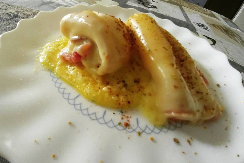 Merendina velocissima e super gustosa!!! #merenda #prosciutto #gouda #cannella #microwave #micro #dukan #diet #lightfood #quartafase #fast & #easy