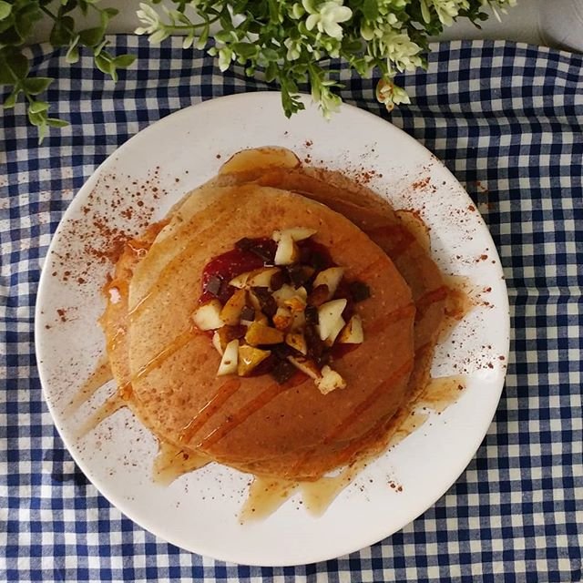 Bimba a casa malata...serve decisamente un po' di energia per la mamma! Pancakes dulight (trovate il preparato su @tibiona_15 ) con marmellata light della videoricetta sul canale, ciocco fondente, uvetta e pera. Buona colazione ❤ #breakfast #colazione #pancakes #tibiona #preparati #marmellata #jam #pera #cioccolato #chocolate #lightfood #dukan #dukanitalia #benessere #highprotein #fitness #fitfood #cucinaproteica #cucinadulight