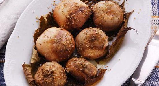 Funzi rosci in to forno (
