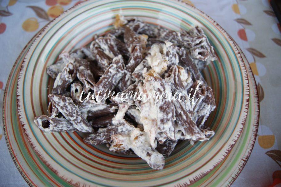 Pasta al cacao speck e noci