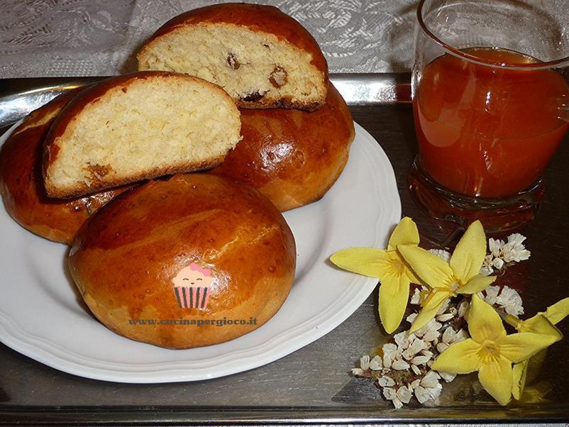 cucina per gioco panini con uvetta