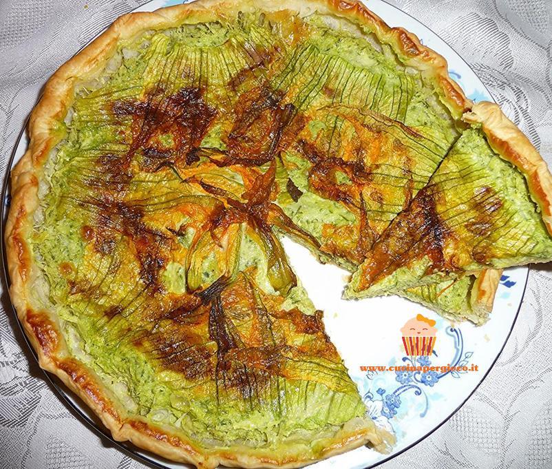 cucinapergioco torta ai fiori di zucca