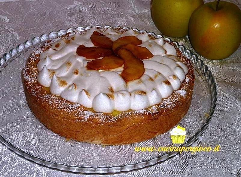 cucinapergioco torta mele e meringa