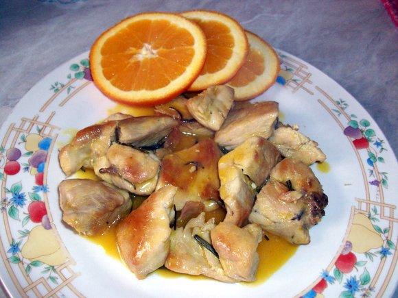 petto di pollo aal'arancia